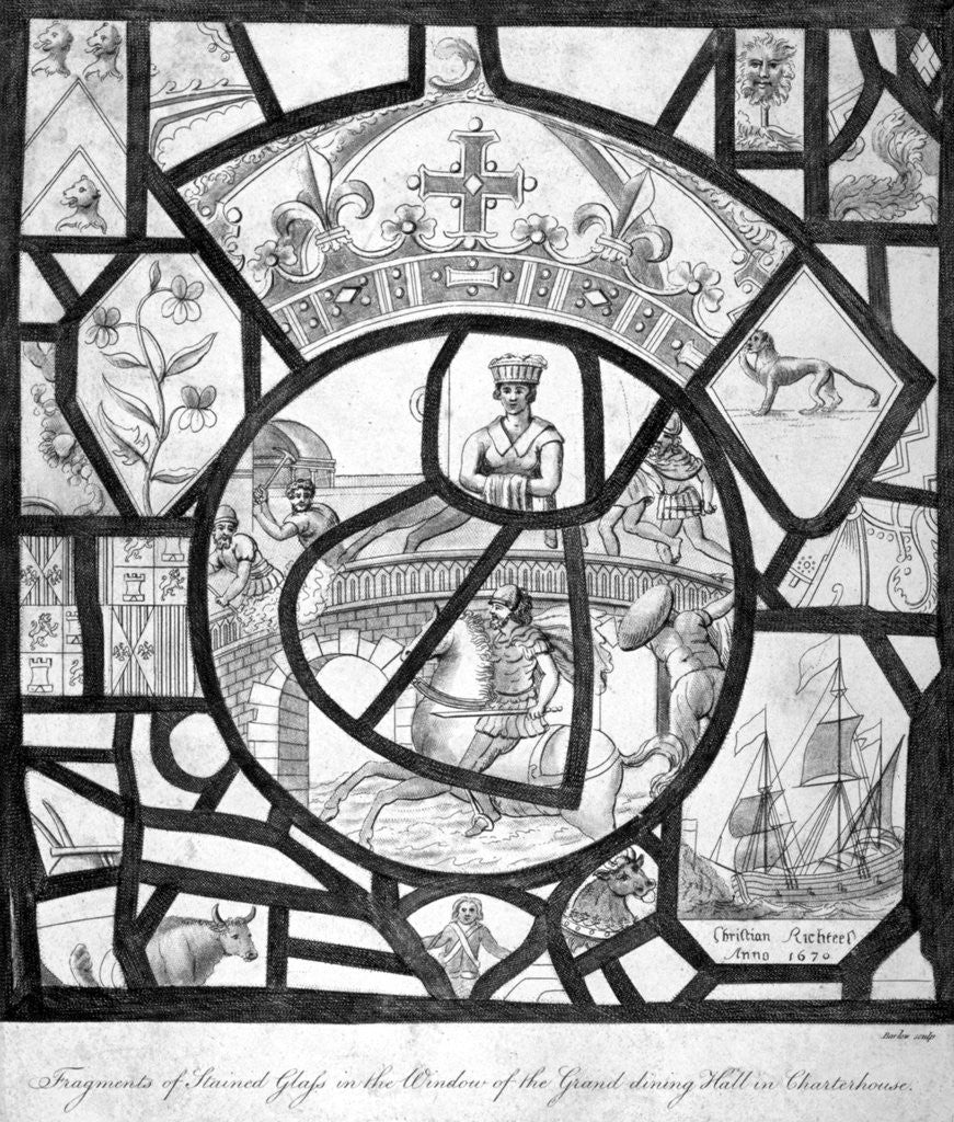 Detail of Window at Charterhouse, Finsbury, London by