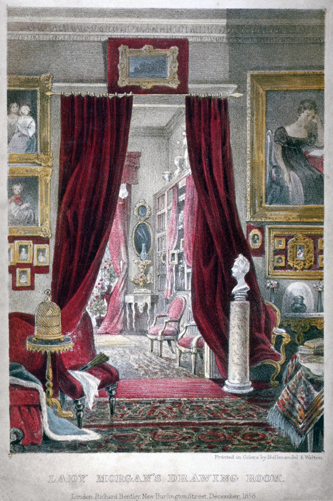 Detail of Lady Morgan's drawing room, no 11 William Street, Lowndes Square, Chelsea, London by Anonymous