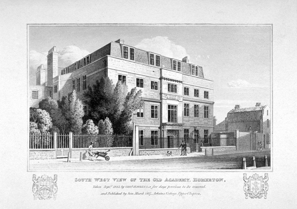 Detail of South-west view of the King's Head Academy, Homerton, Hackney, London by