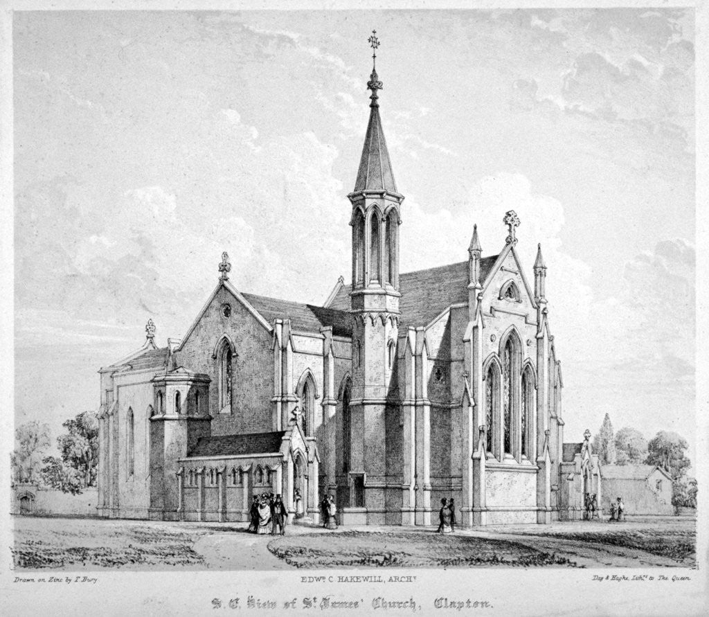 Detail of South-east view of St James Church, Clapton, Hackney, London by Anonymous