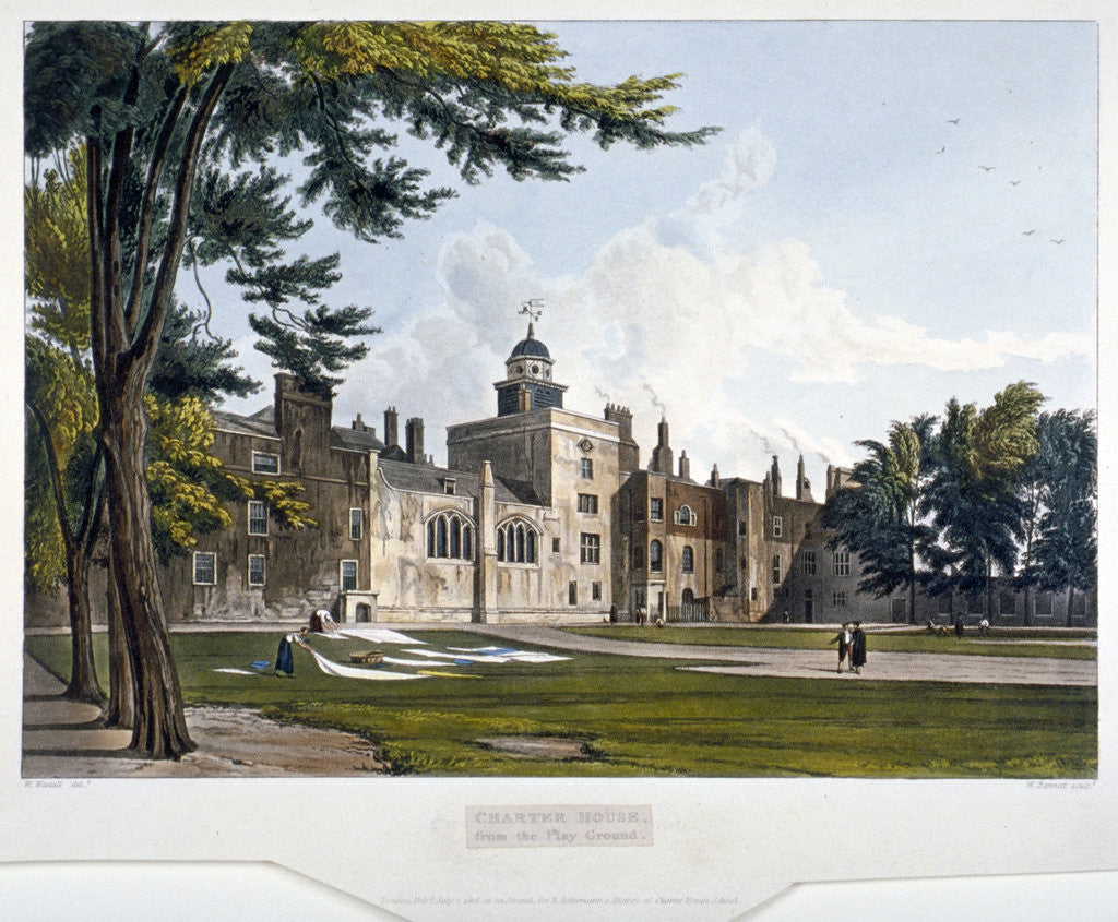 Detail of Charterhouse, Finsbury, London by William James Bennett