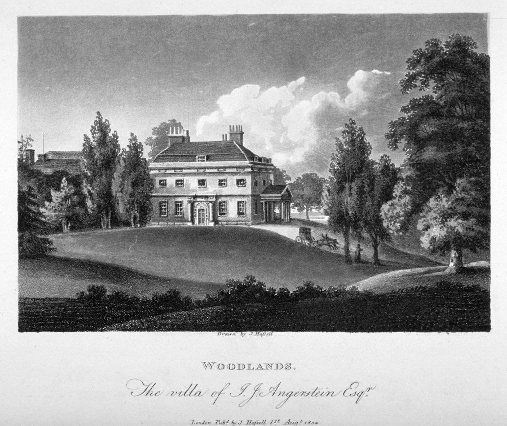 Detail of View of Woodlands House, Blackheath, Greenwich, London by Anonymous