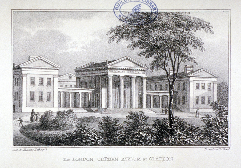 Detail of View of the London Orphan Asylum at Clapton, Hackney, London by