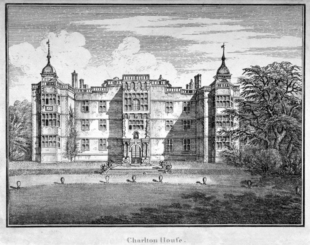 Detail of View of Charlton House, Charlton, Greenwich, London by Anonymous