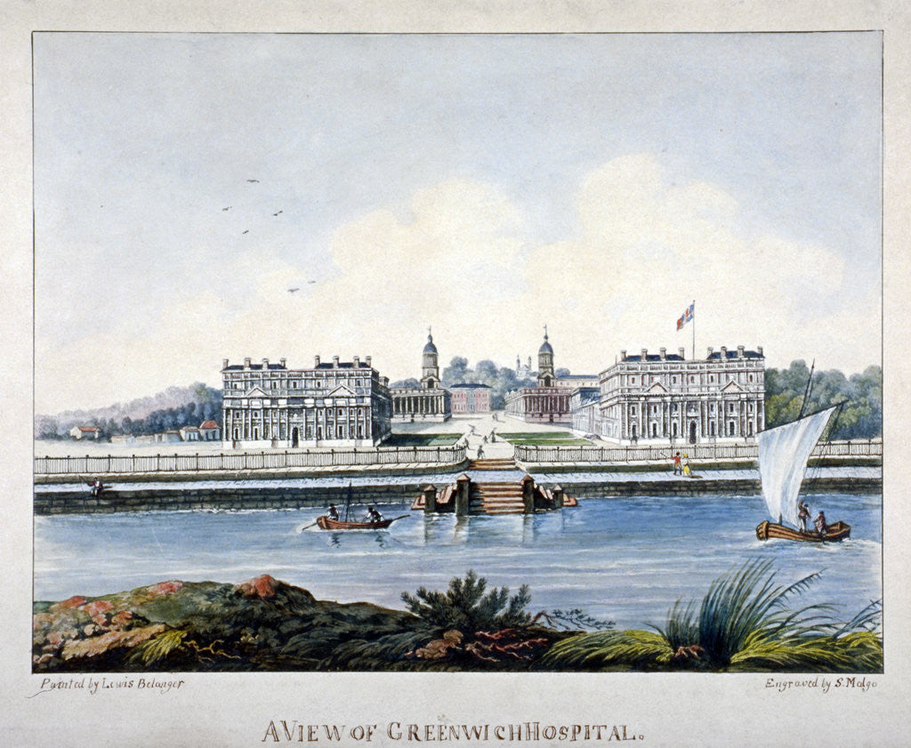 Detail of View of Greenwich Hospital from the Isle of Dogs, London by