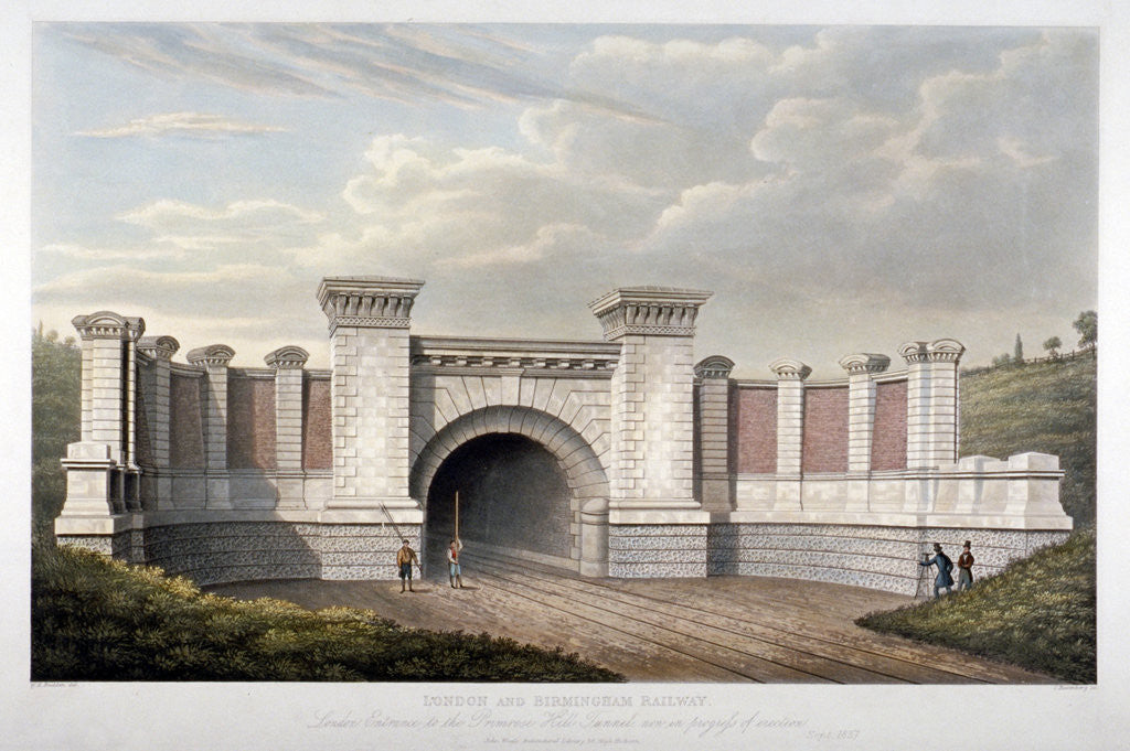Detail of Primrose Hill Tunnel of the London and Birmingham Railway by C Rosenberg