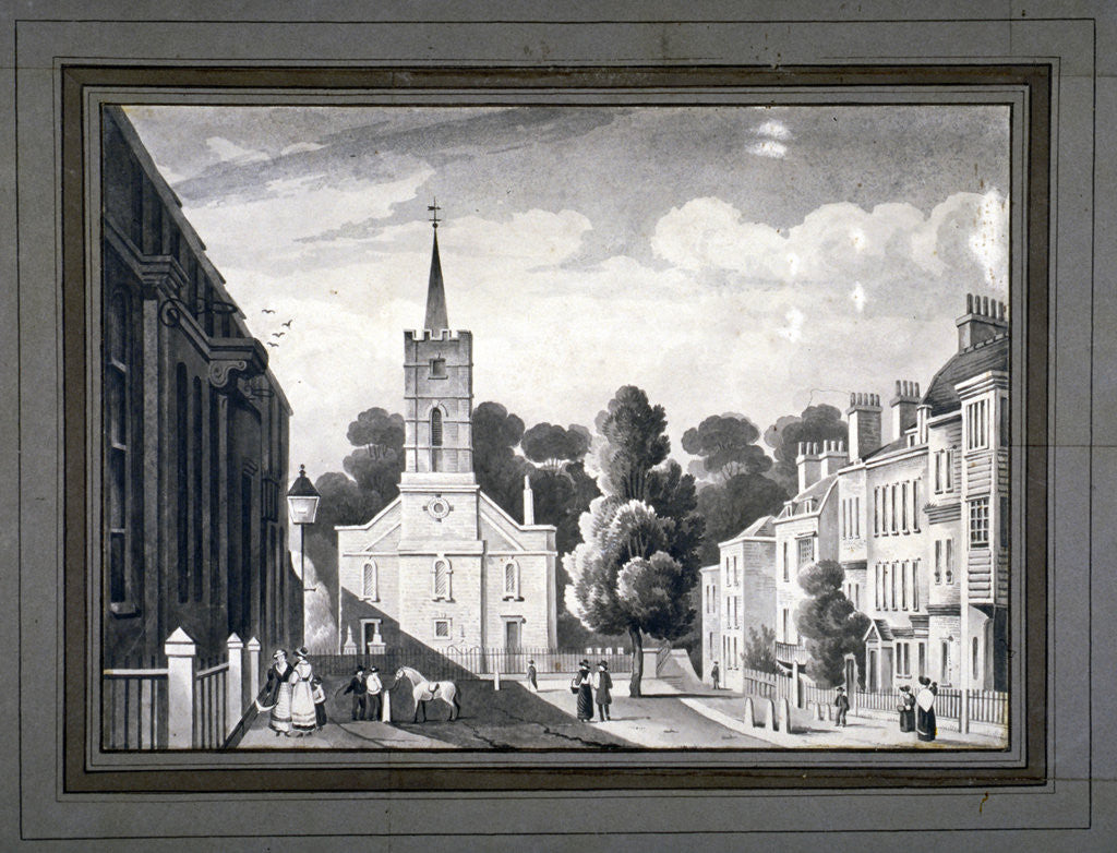 Detail of Church Row, Hampstead, London by L Garne