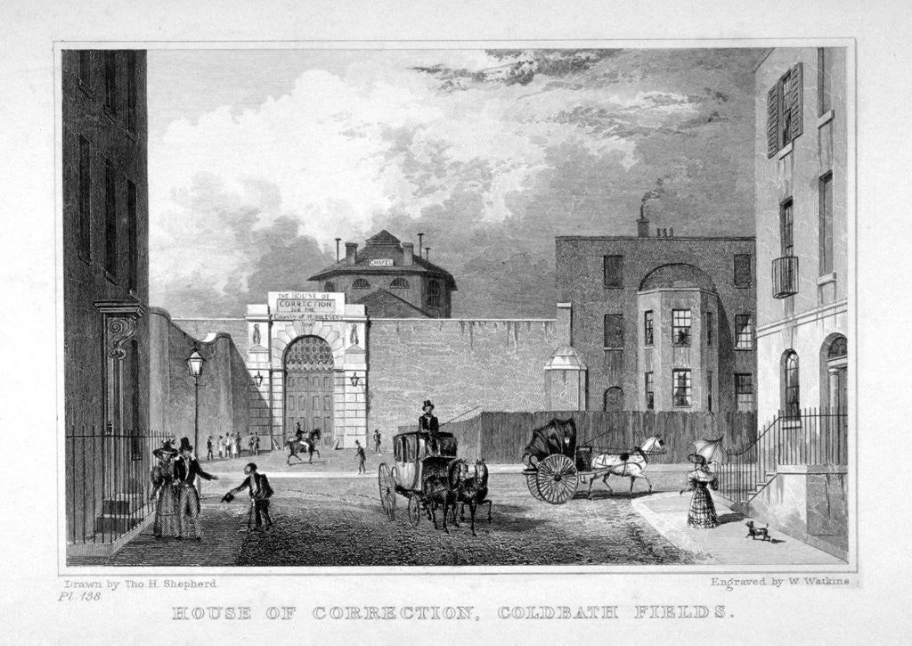 Detail of Cold Bath Fields Prison, Finsbury, London by
