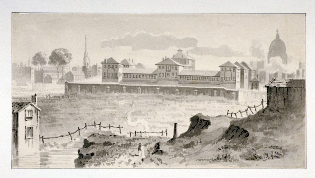 Detail of Cold Bath Fields Prison, Finsbury, London by Anonymous