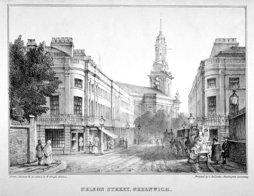 Detail of Nelson Street, Greenwich, London by W Bligh Barker