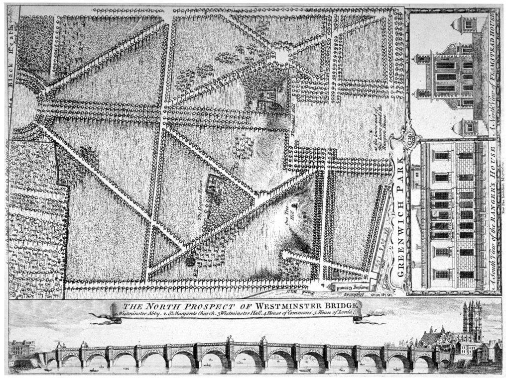 Detail of Plan of Greenwich Park, Greenwich, London by Anonymous