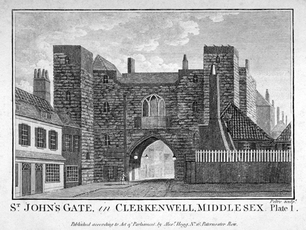 Detail of View of St John's Gate, Clerkenwell, London by