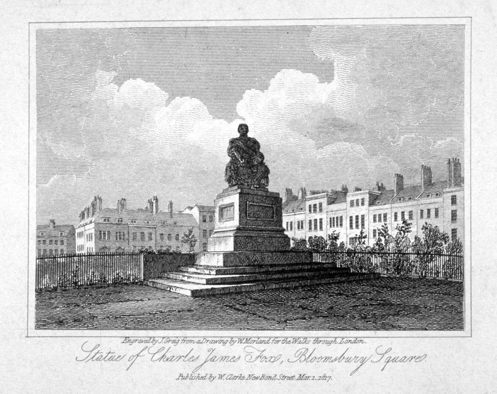 View of the statue of Charles James Fox in Bloomsbury Square, Bloomsbury, London by John Greig
