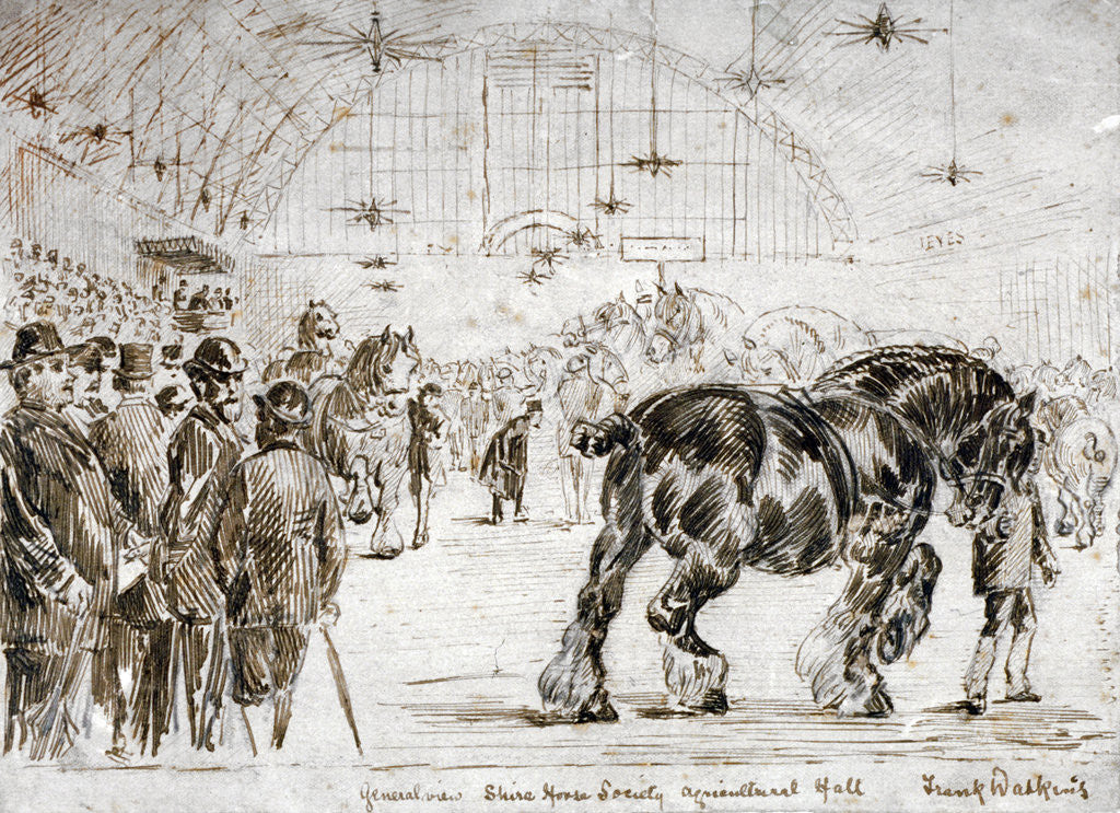 Detail of Meeting of the Shire Horse Society in Islington's Agricultural Hall, London by Frank Watkins