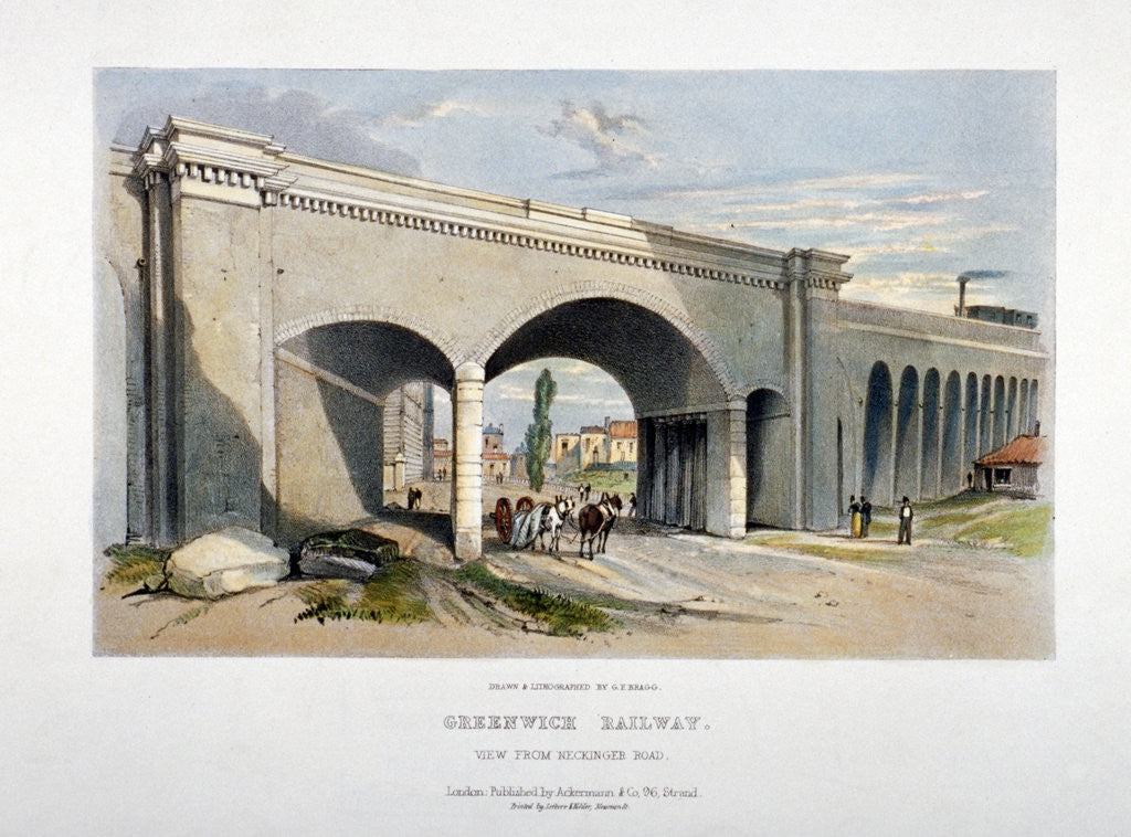 Detail of London and Greenwich Railway bridge over the Neckinger Road, Bermondsey, London by GF Bragg