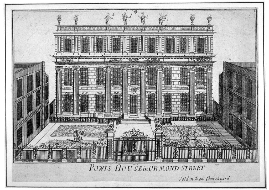 Detail of View of Powis House, Great Ormond Street, Bloomsbury, London by Anonymous