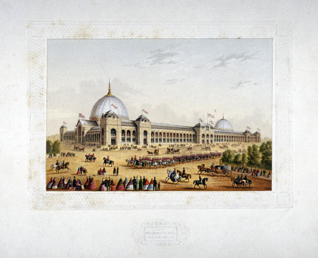 Detail of Site of the 1862 International Exhibition, Cromwell Road, Kensigton, London by Anonymous