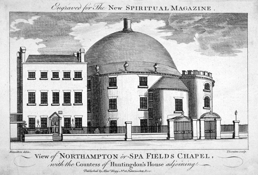 Detail of Spa Fields Chapel, Finsbury, London by