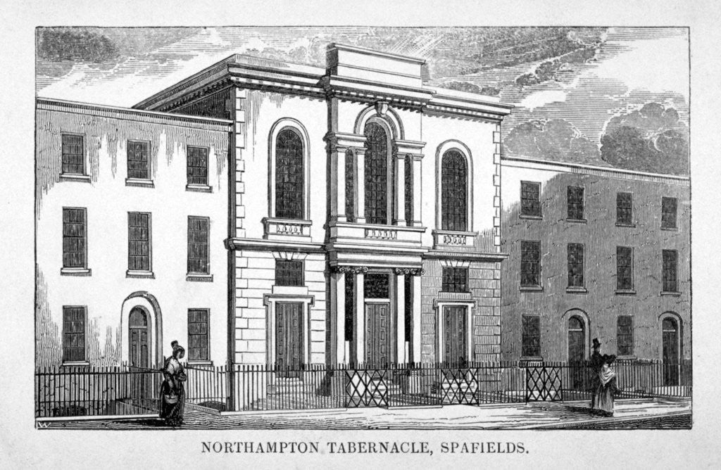 Detail of Northampton Tabernacle, Spa Fields, Finsbury, London by Anonymous