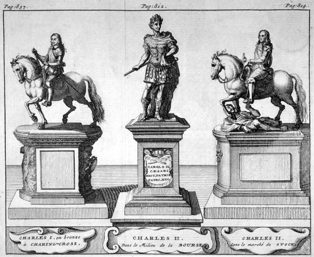 Detail of Statues of Kings Charles I and II by Anonymous