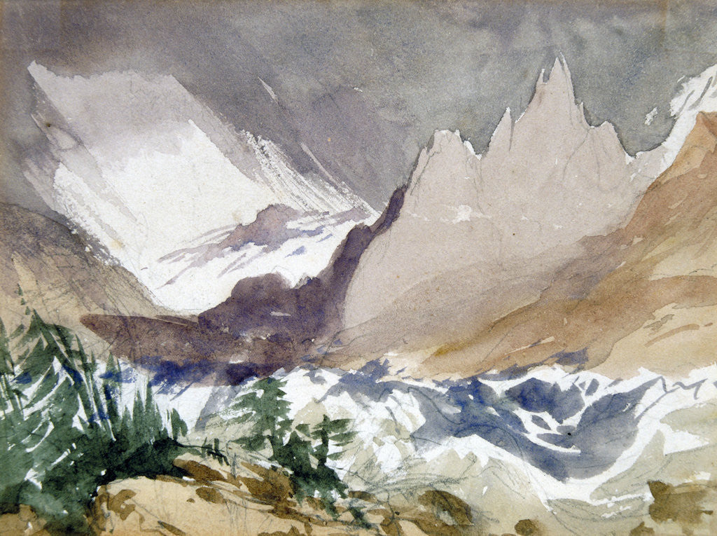 Detail of Swiss Mountain Landscape by