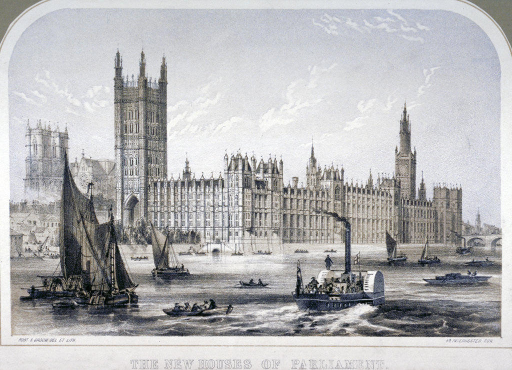 Detail of Palace of Westminster, London by Robert S Groom