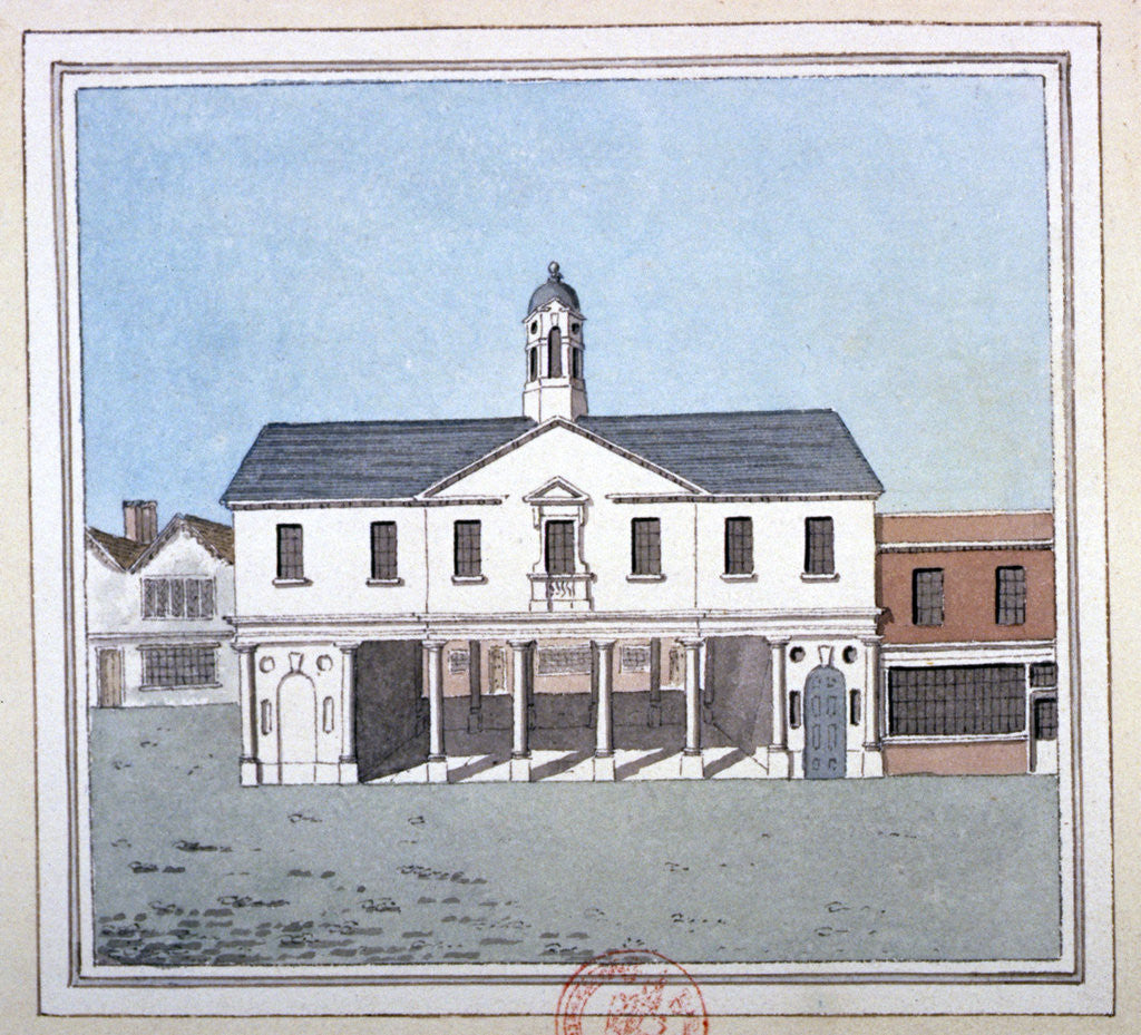 Detail of View of Romford Market House, Essex by Anonymous
