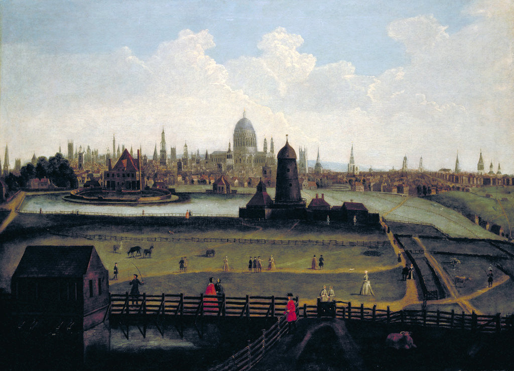 Detail of Prospect of the City from the North, London by Anonymous