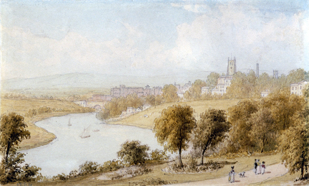 Detail of River Dee and St John's Church by William Westall