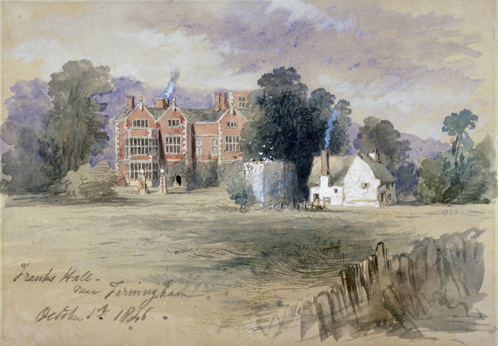 Detail of Frank's Hall near Farningham by Sir John Gilbert