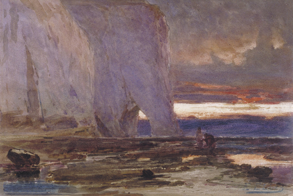 Detail of Beach and Cliffs by Edwin Ellis
