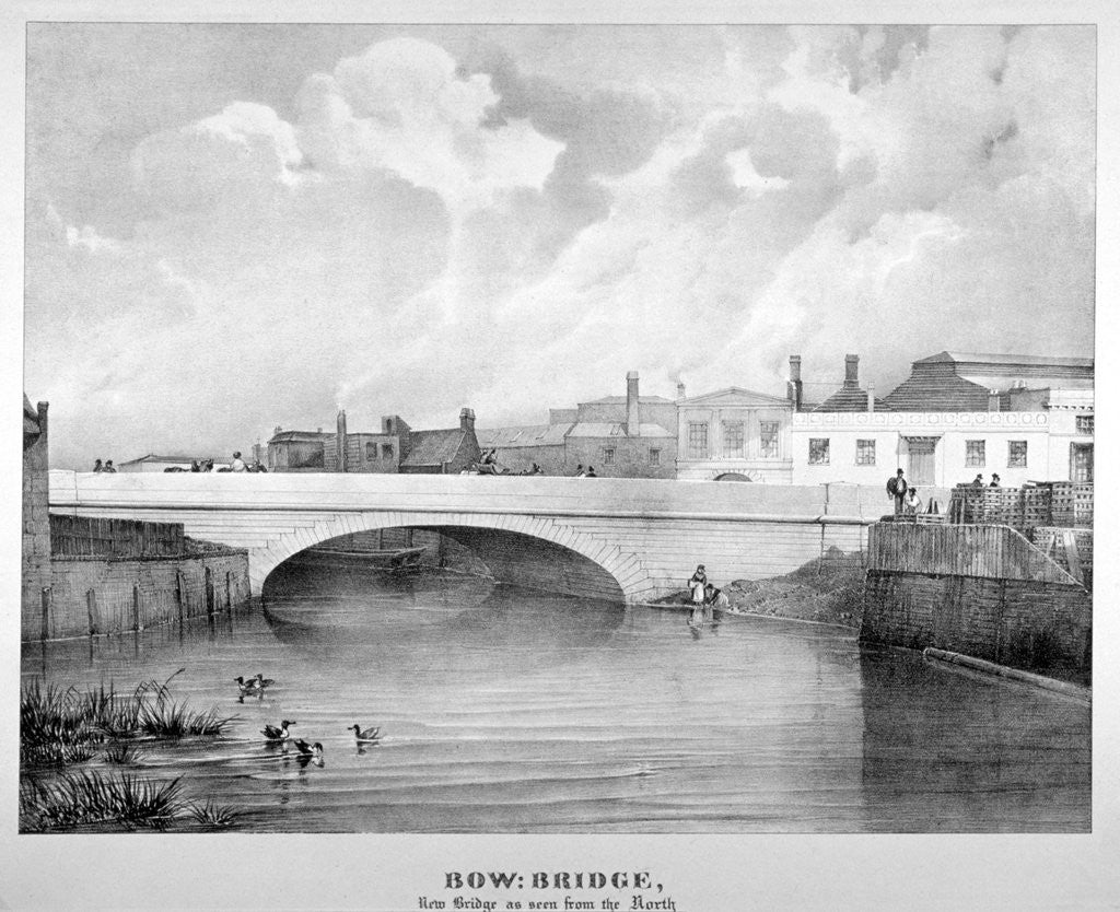 Detail of View of Bow Bridge from the north, London by Anonymous