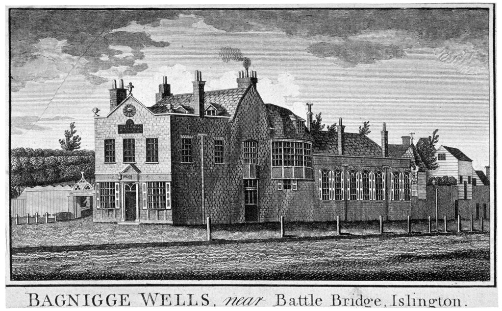 Detail of Bagnigge Wells near Battle Bridge, London by Anonymous