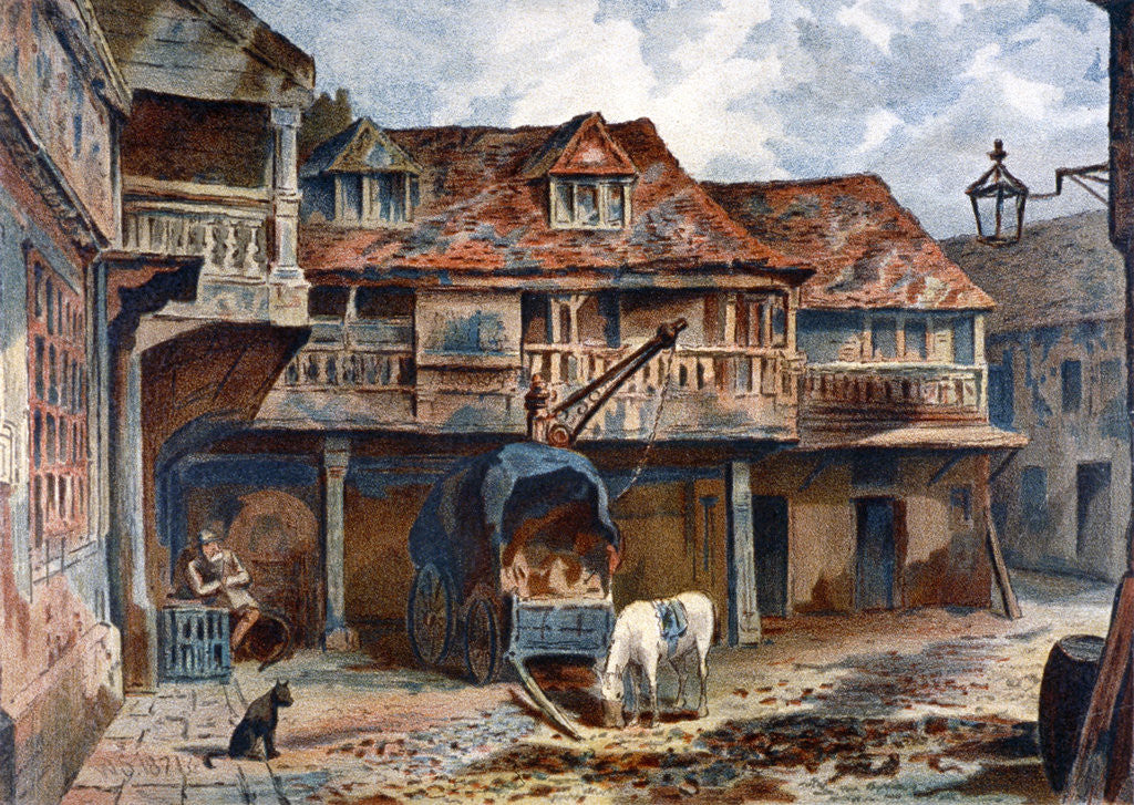 Detail of Courtyard of the Tabard Inn, Borough High Street, Southwark, London by JS Virtue