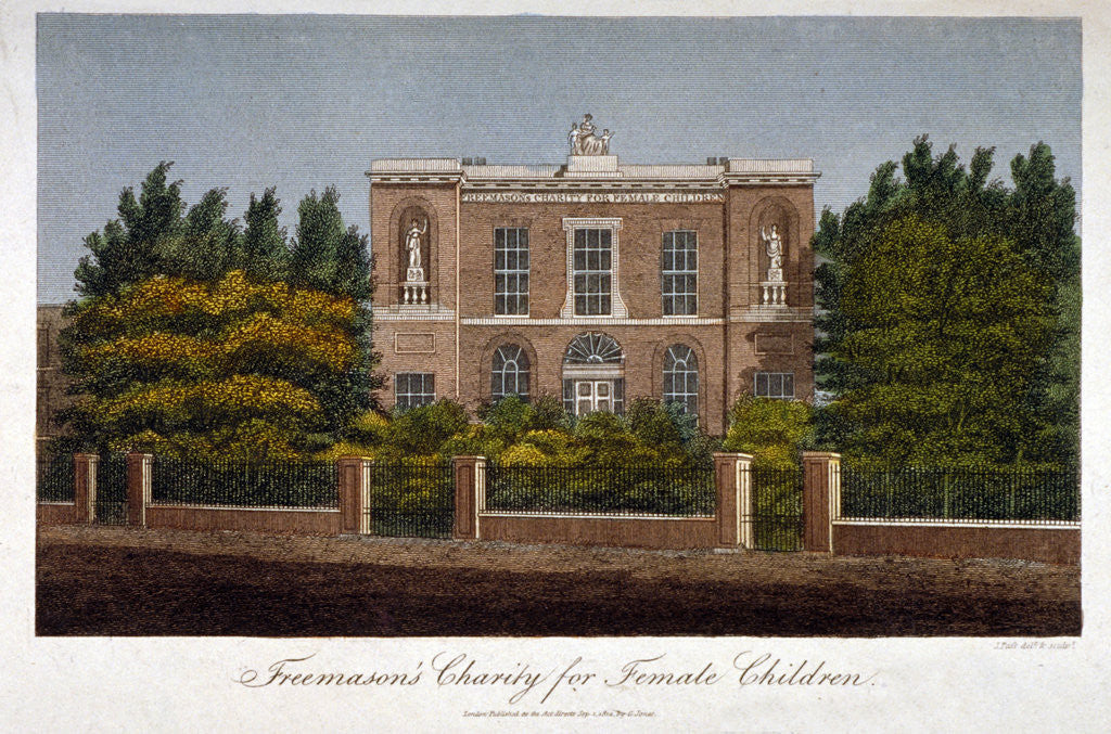 The Freemasons' Charity School for Girls, Westminster Bridge Road, Lambeth, London by John Pass