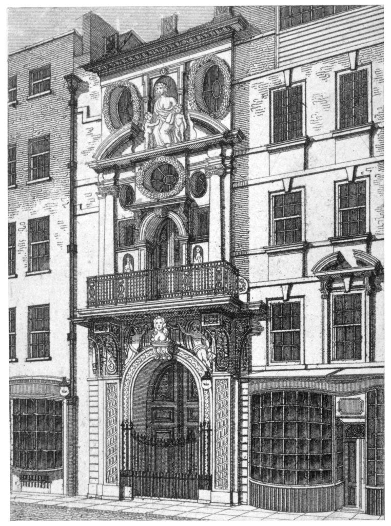 Detail of Mercers' Hall, City of London by William Angus
