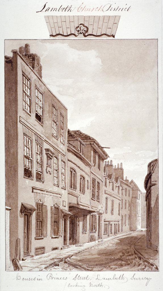 Detail of View of Prince's Street, looking north, Lambeth, London by