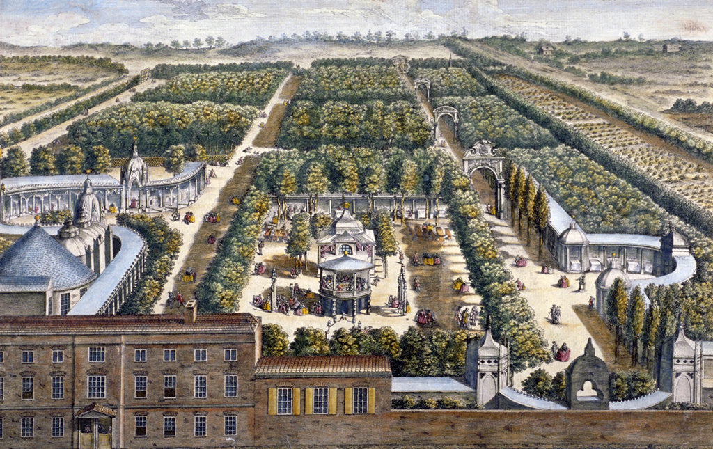 Detail of Vauxhall Gardens, Lambeth, London by Johann Sebastian Muller