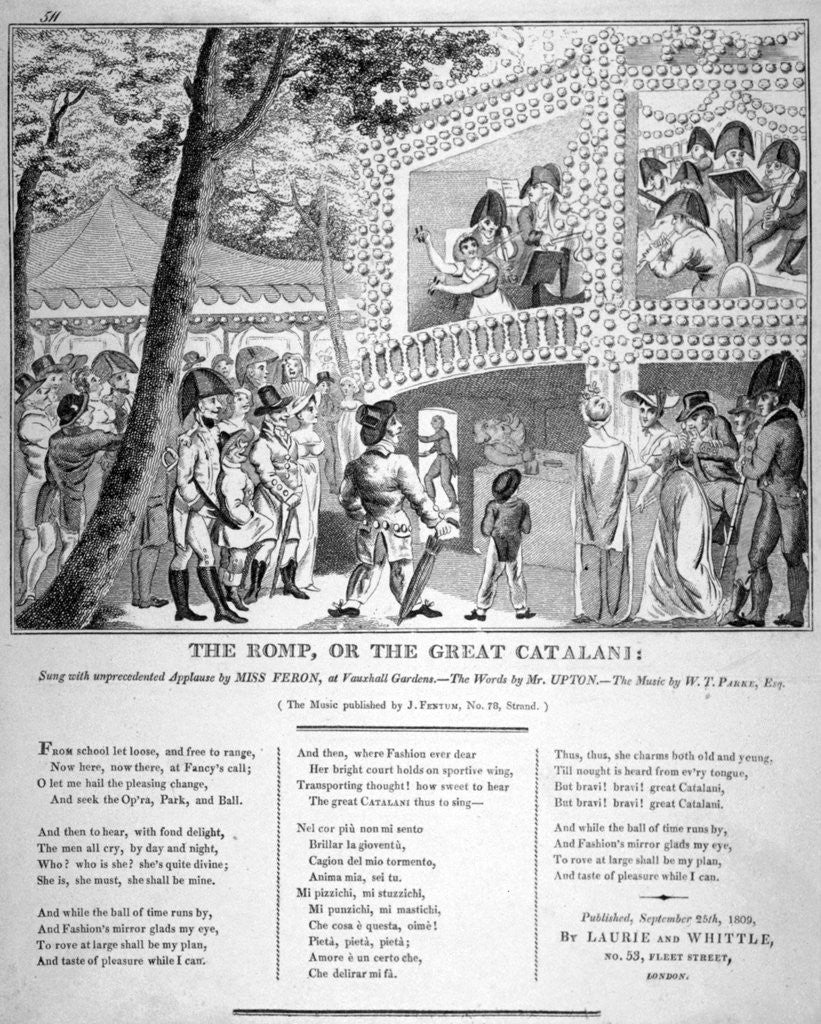 Detail of Musical performance at Vauxhall Gardens, Lambeth, London by