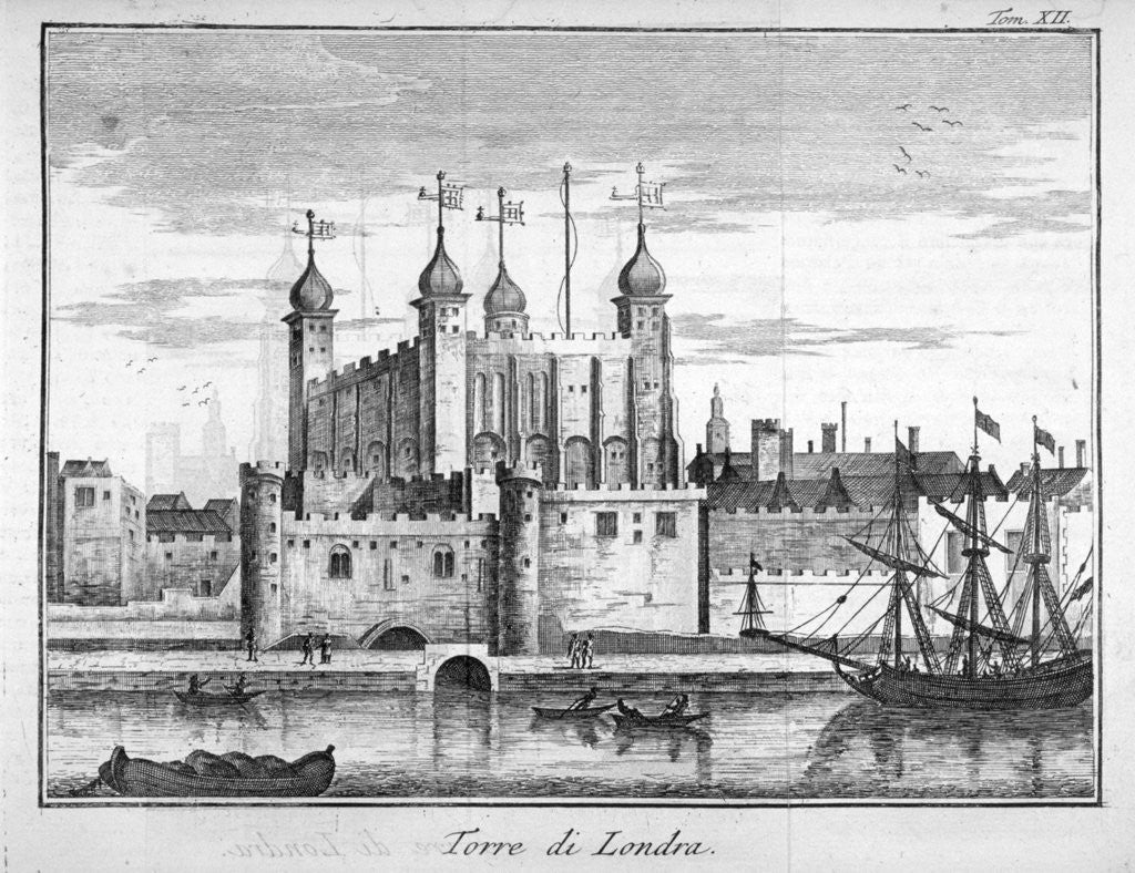 Detail of View of the Tower of London from the River Thames by Anonymous