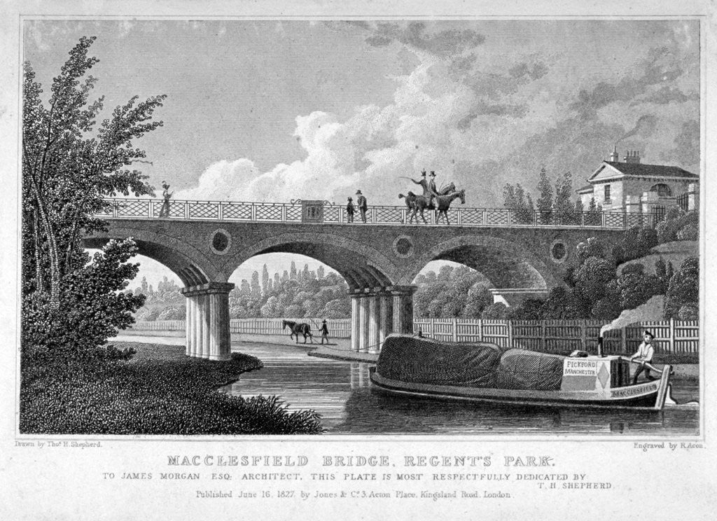 Detail of Macclesfield Bridge, Regent's Park, Marylebone, London by R Acon