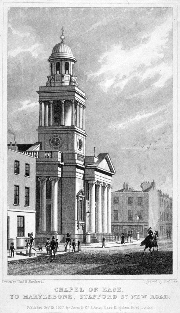 Detail of Chapel of Ease which might also be Christ Church, Cosway Street, Marylebone, London by Thomas Dale
