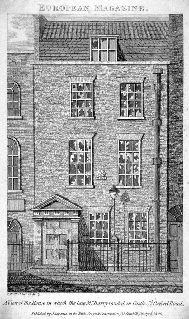 Detail of House that the artist James Barry lived in, Eastcastle Street, Marylebone, London by Thomas Prattent