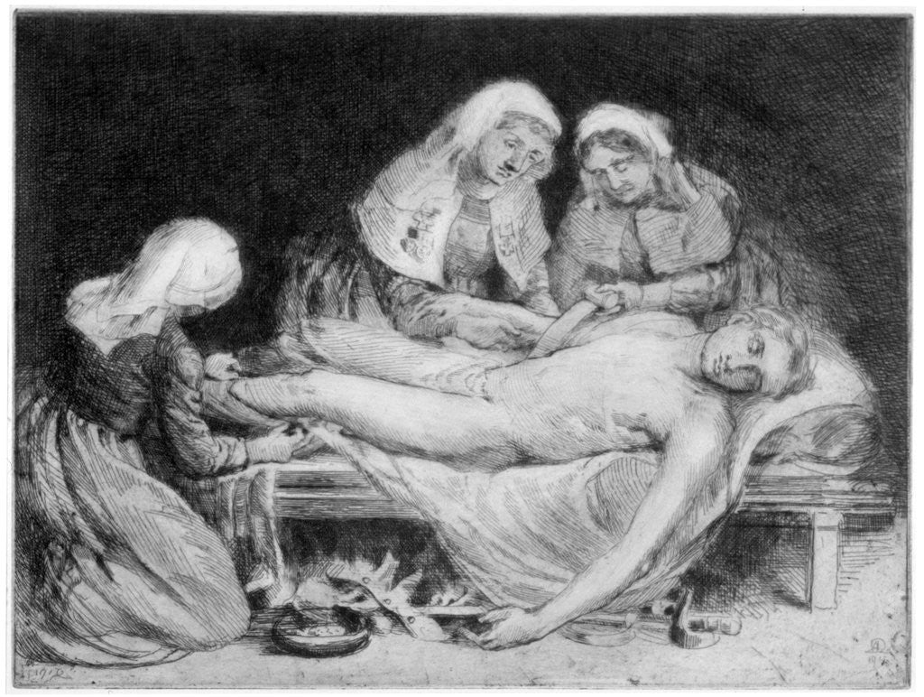 Detail of Three Nurses tending a Wounded Soldier by Anna Lea Merritt