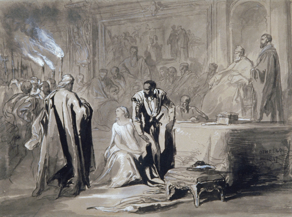 Detail of Othello and Desdemona before the Senate by Sir John Gilbert