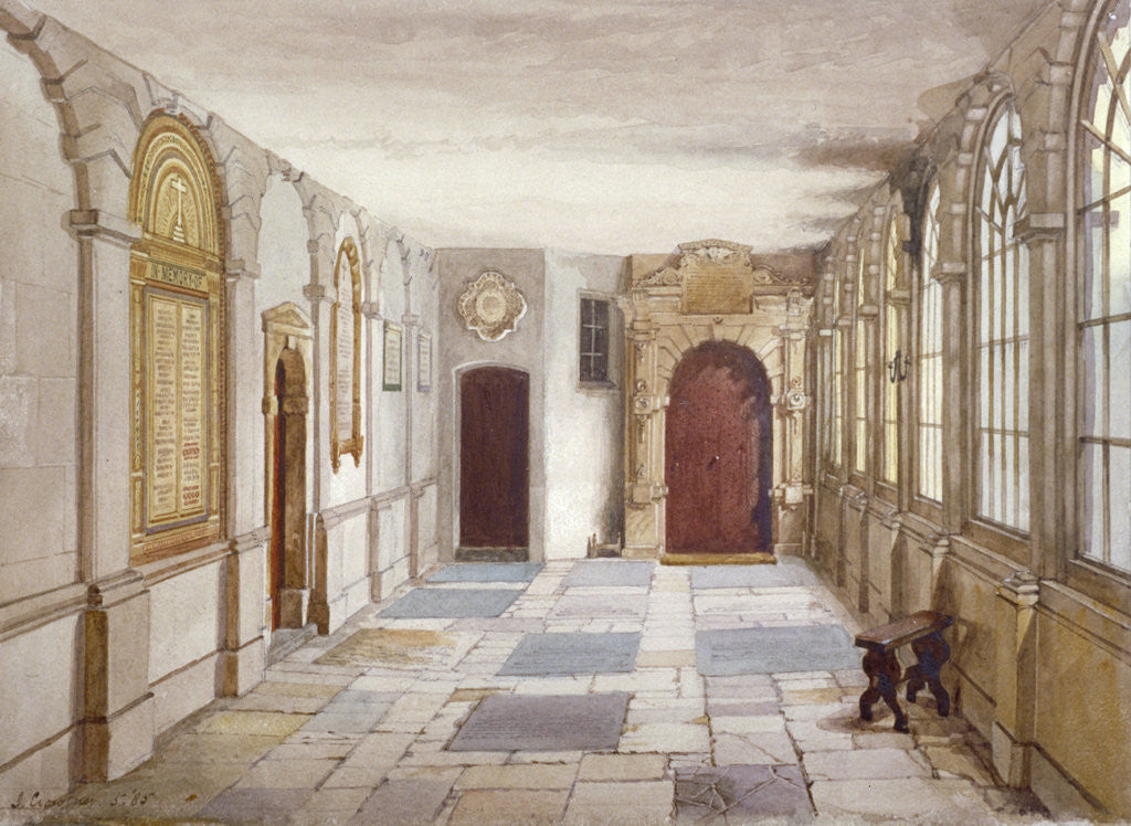Detail of Passage leading to the chapel, Charterhouse, London by John Crowther