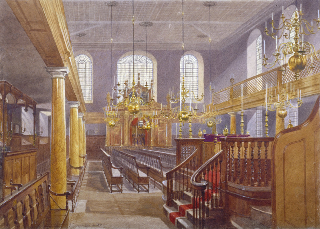 Detail of Synagogue, Bevis Marks, City of London by