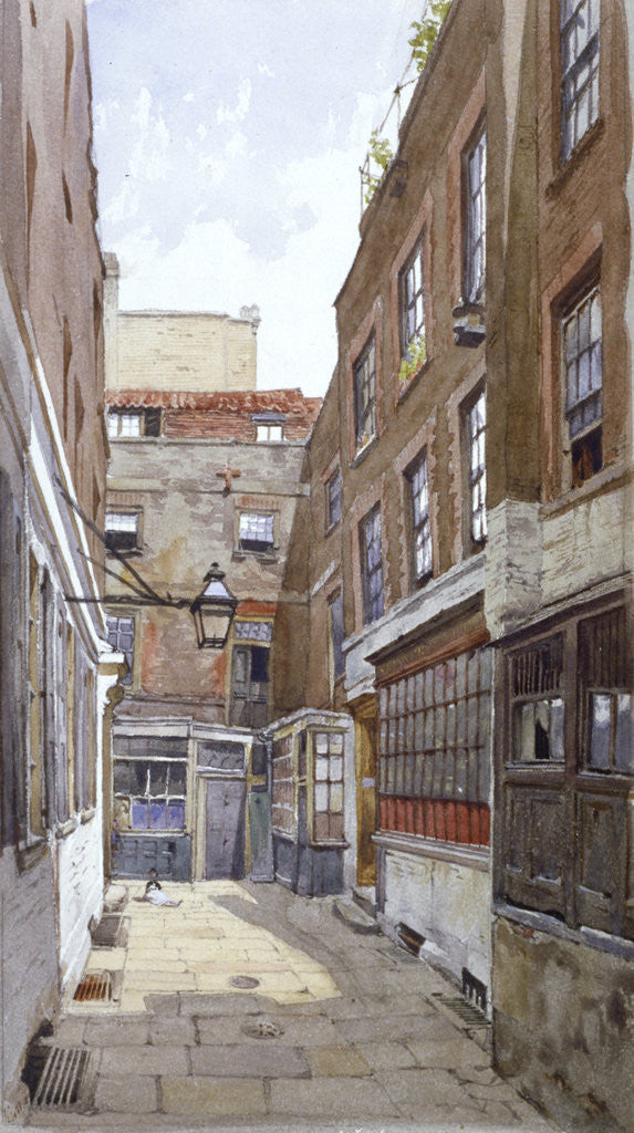 Detail of View of Apollo Court, Fleet Street, City of London by John Crowther