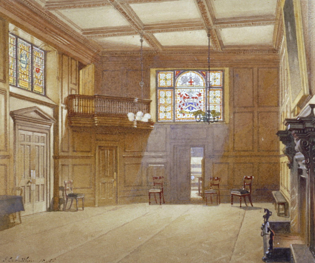 Detail of Innholders' Hall, City of London by