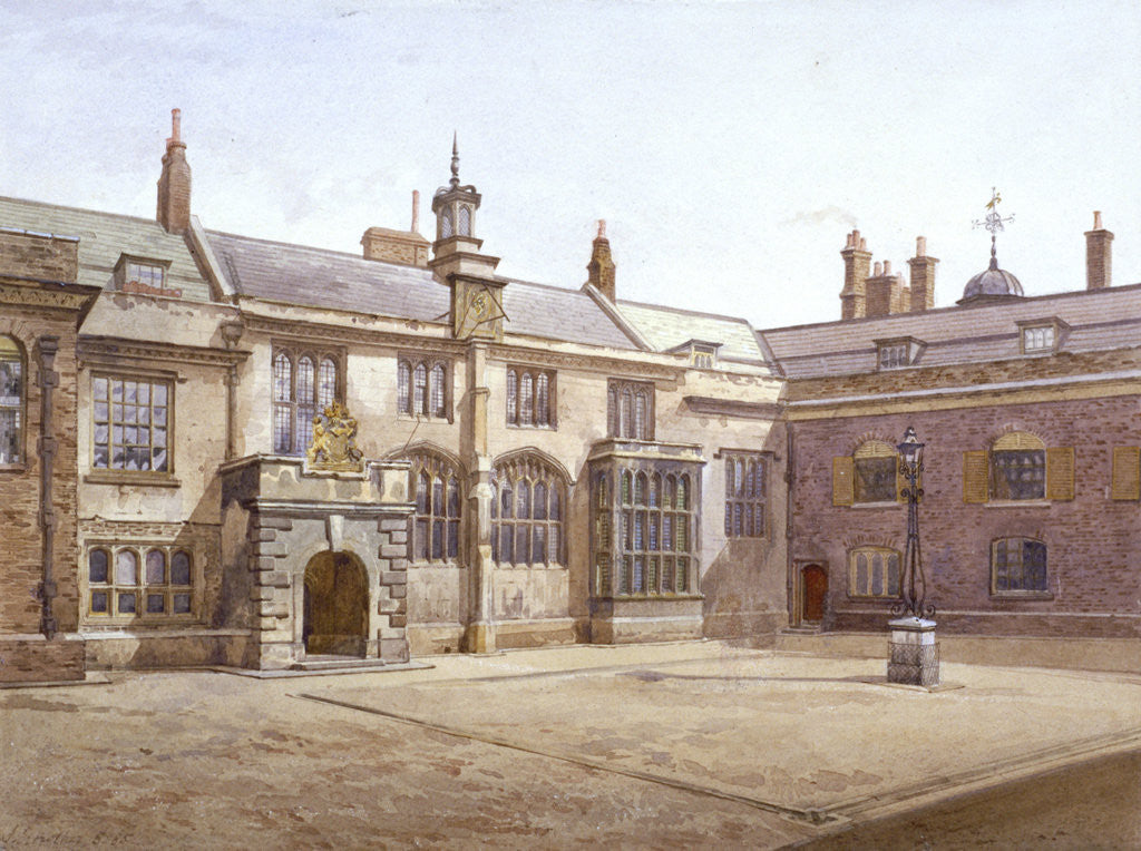 Detail of View of Sutton's Pensioners Hall, Charterhouse, London by John Crowther